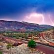 Mt Nameless lightning